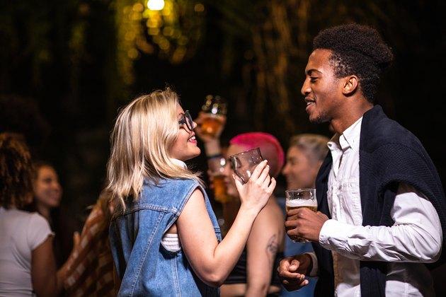 Dancing and flirting at night club