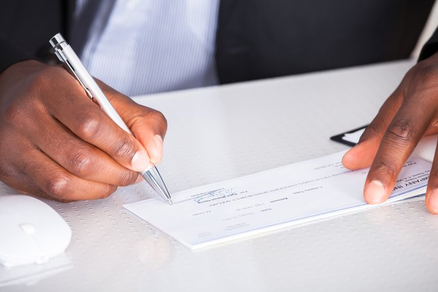 New Jersey Tax Employee's Withholding Allowance Human Hand Writing On Cheque
