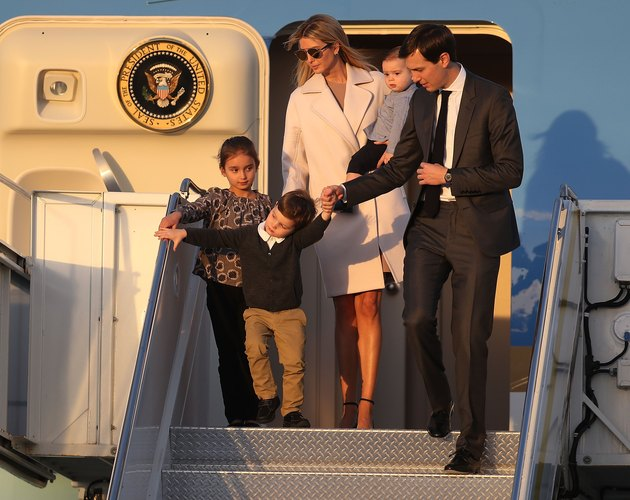 President Trump Arrives In West Palm Beach With Japanese Prime Minister Shinzo Abe For Weekend At Mar-a-Lago