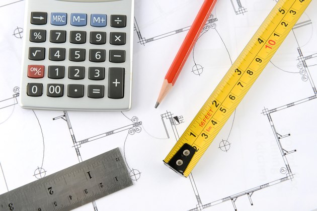 How to Calculate Commercial Property Valuescalculator and pencil and measuring tape and ruler