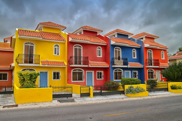 Colorful houses in the Dominican Republic