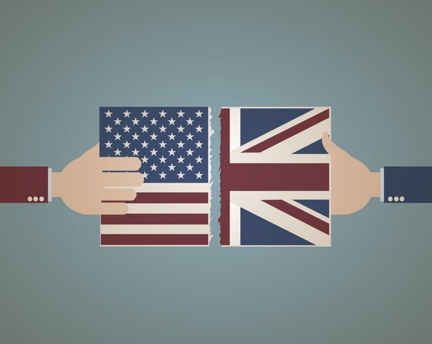 United States and Great Britain Flag