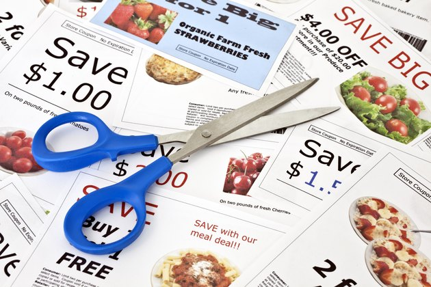 Fake coupons with Scissors