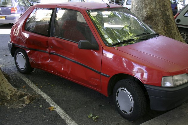Dented French Car