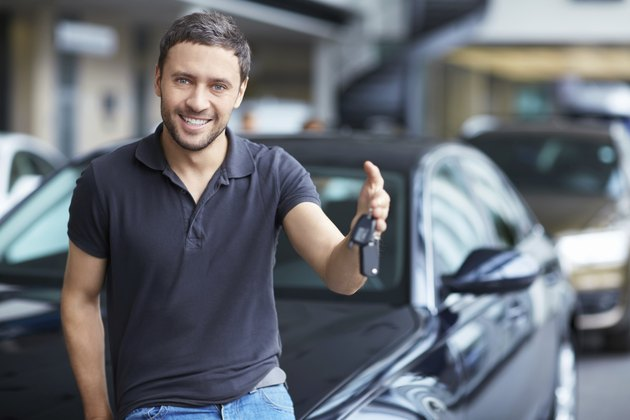 Man with car keys