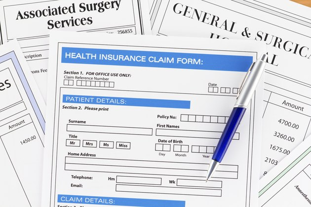 Health Insurance Claim Form with Invoices