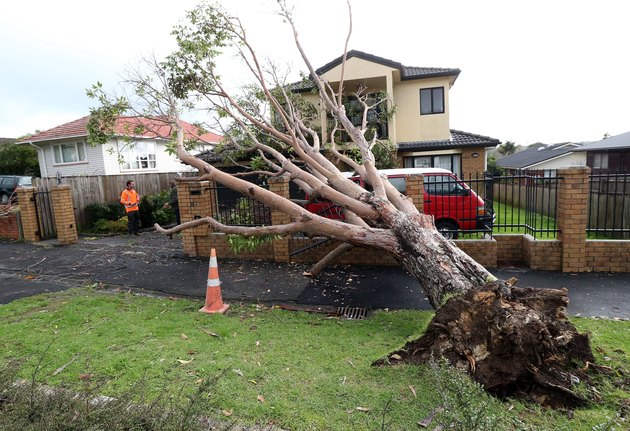 Stormy Weather Hits Auckland