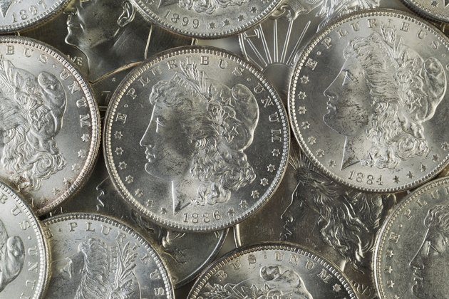 Many American Silver Dollars