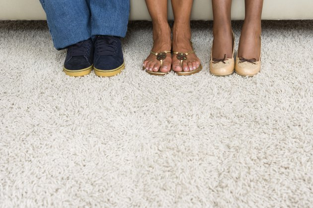 Feet on carpet