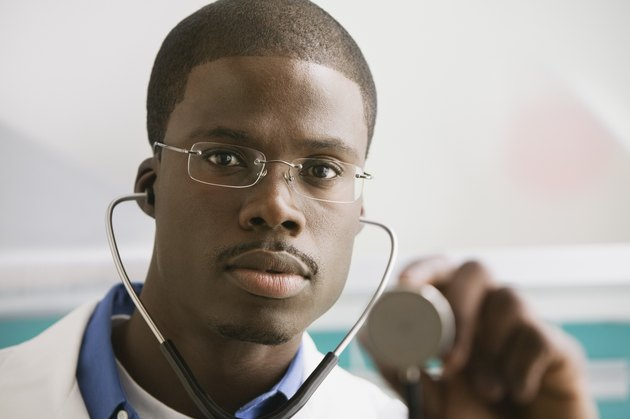African male doctor with stethoscope