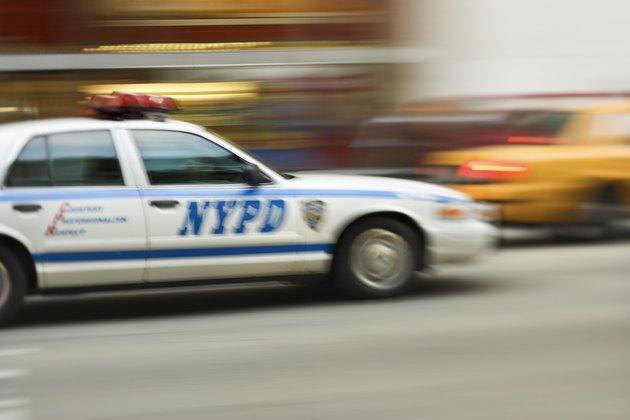 New York Police Department police car, New York City, NY