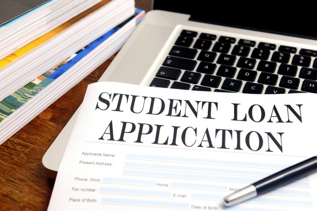 blank student loan application on desk