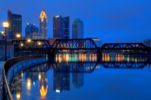 Columbus Ohio Skyline at Night