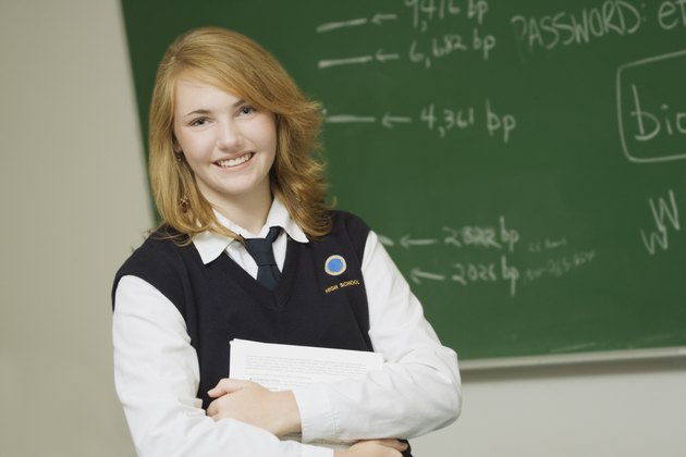Student in a classroom