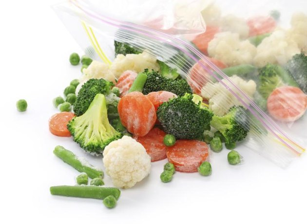 Frozen broccoli, cauliflower, carrots, green beans and peas are nutritious.
