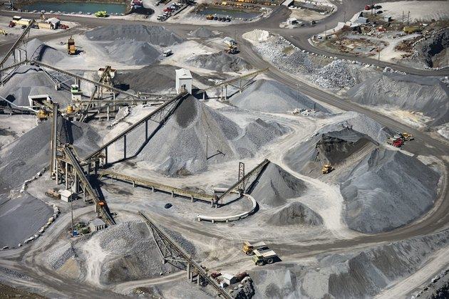 Aerial view of mining in Pennsylvania
