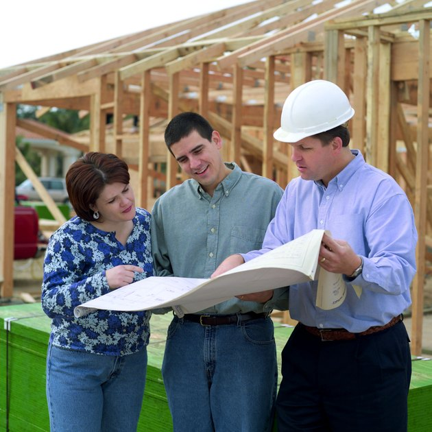 Couple with contractor