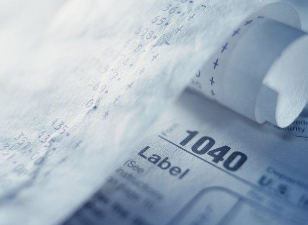 Tax Return Form and Adding Machine Tape