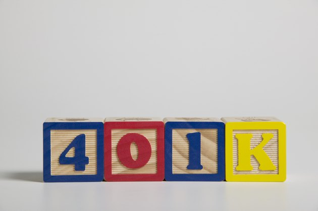401K spelled out in building blocks