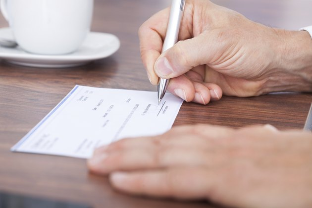 Filling Out The Amount On A Cheque