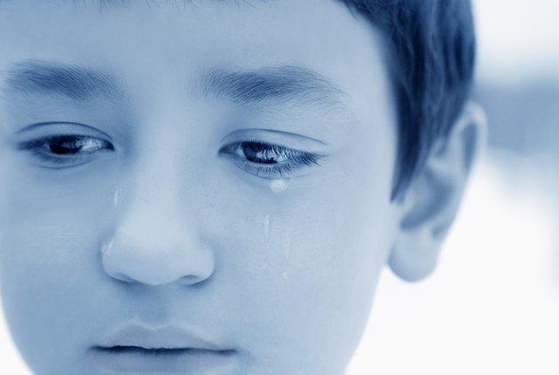 Boy with tears
