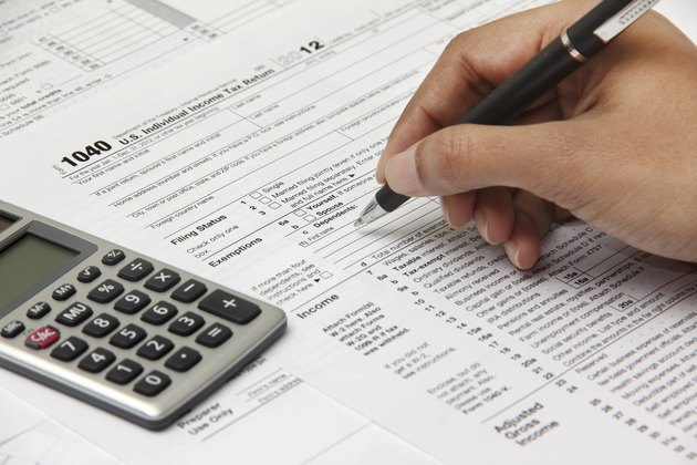 Person filing 1040 tax form