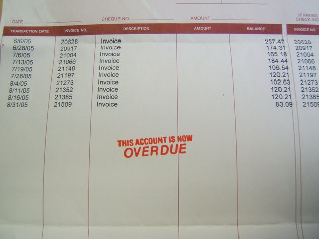 Overdue bill