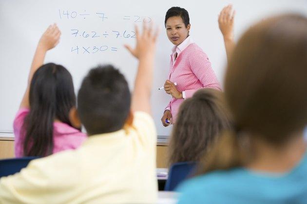 Elementary school maths class