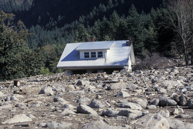 House Swept by Mudslide