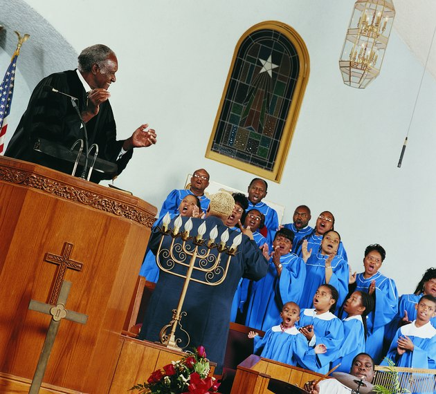 Gospel Choir Singing and Clapping During a Church Service