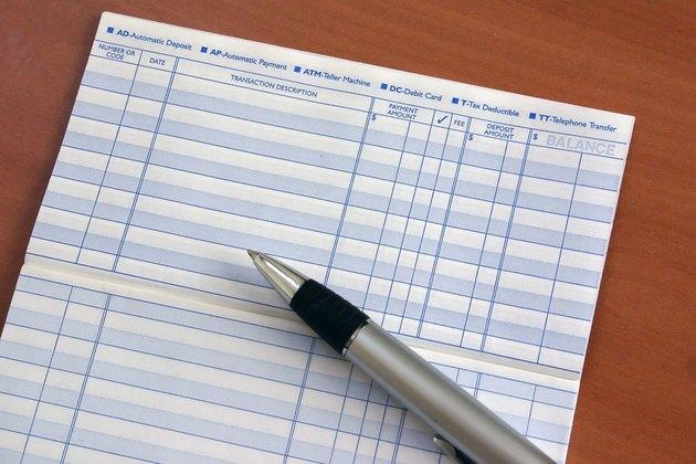 Checkbook Register with Pen
