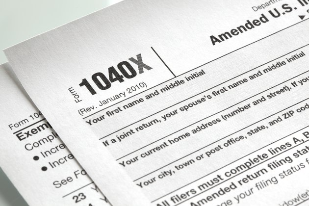 U.S. Income tax form close-up