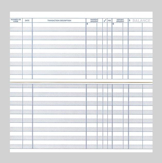 Blank Checkbook Register