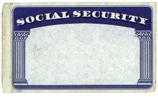 Blank American Social Security Card