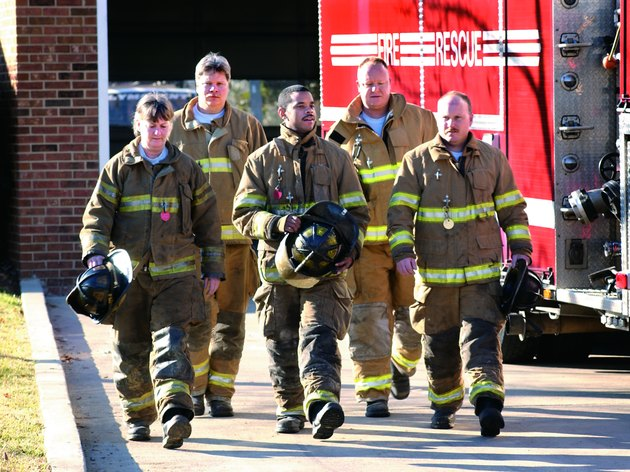 Photo, group of firefighters, Color, High res