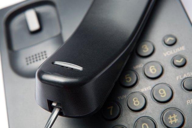 Partial view of landline phone