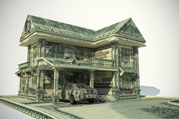 money house and car