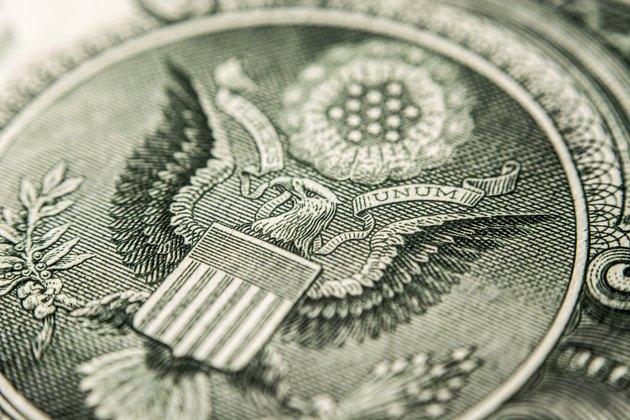 US dollar bill, eagle