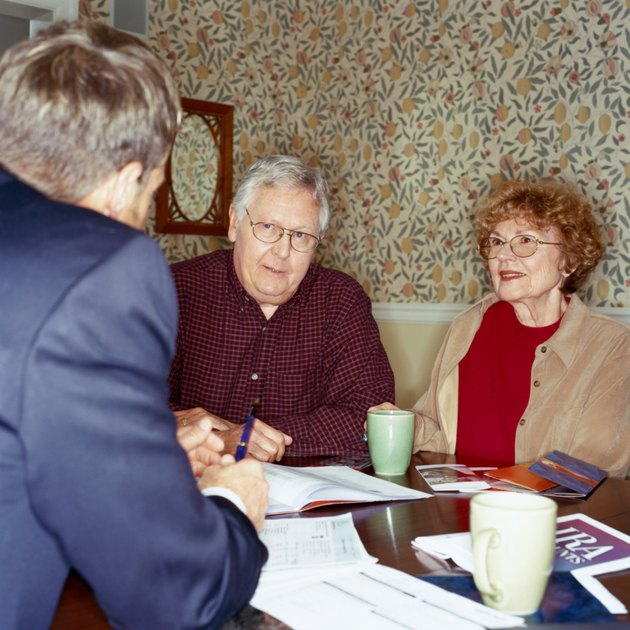 Mature Couple With Financial Advisor