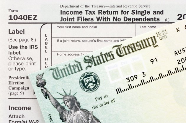 Tax form and Check