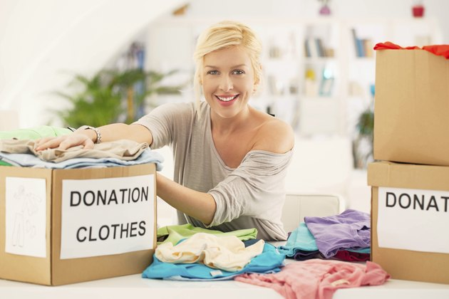 Woman Donation Clothes