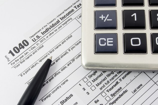 U.S. Individual Income Tax Return form 1040.