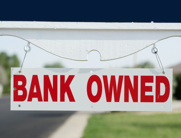 Bank owned real estate sign