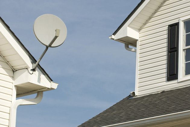 Satellite Dish for Multi-Family Apartment Building (Horizontal)