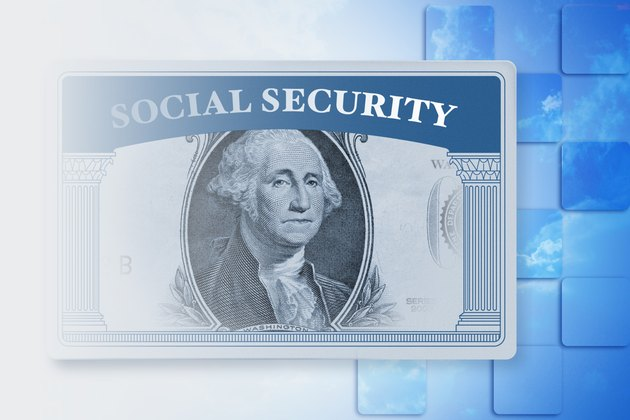 Social security card with dollar bill face