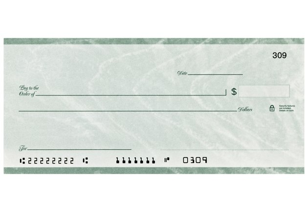 Personal Check with altered numbers