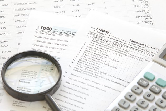 U S  income tax form