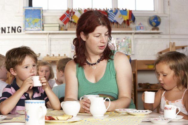 Montessori/Pre-School Class Listening to Teacher