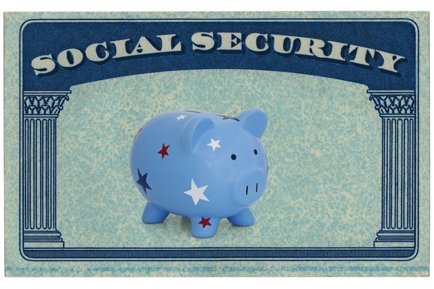 Social Security Card Framing A Piggy Bank