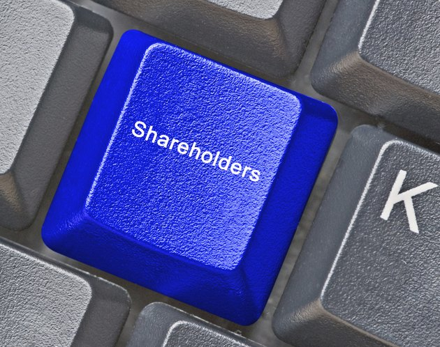 Keyboard with key for shareholders